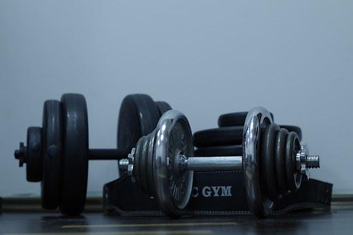 Sport, Exercise, Gym, Dumbbell, Bitumen