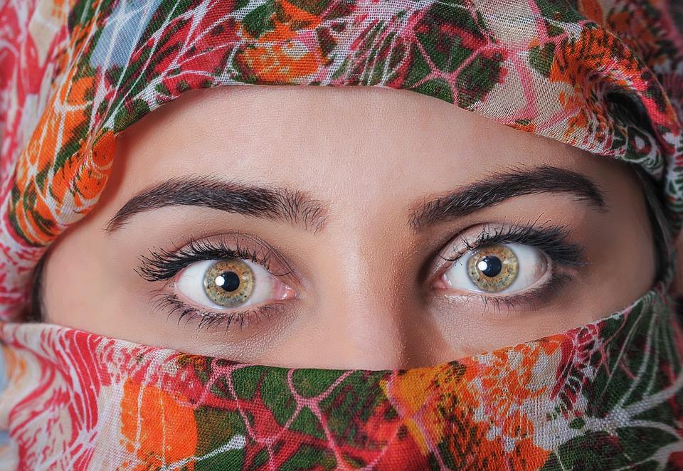 Vrouw, Hoofddoek, Exotische, Mooie, Sjaal, Traditionele