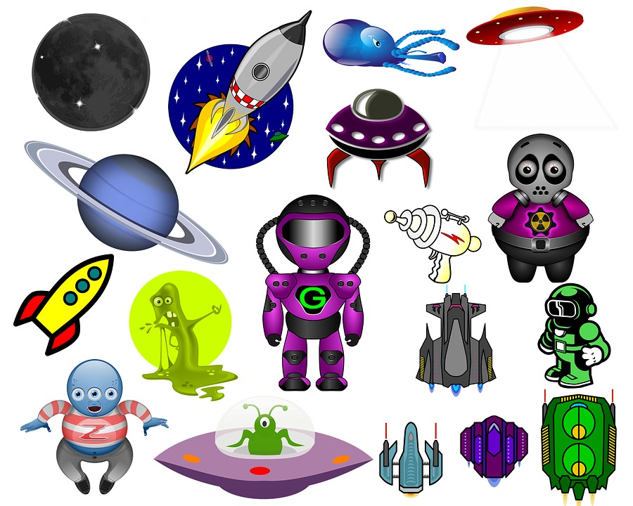 Space Clip Art Aliens Free Image On Pixabay