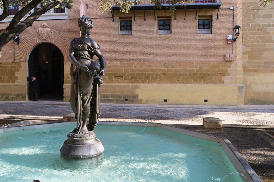 Huesca, Plaza, Ayuntamiento, Fuente