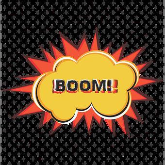 Explosion, Exploding, Pop Art, Boom