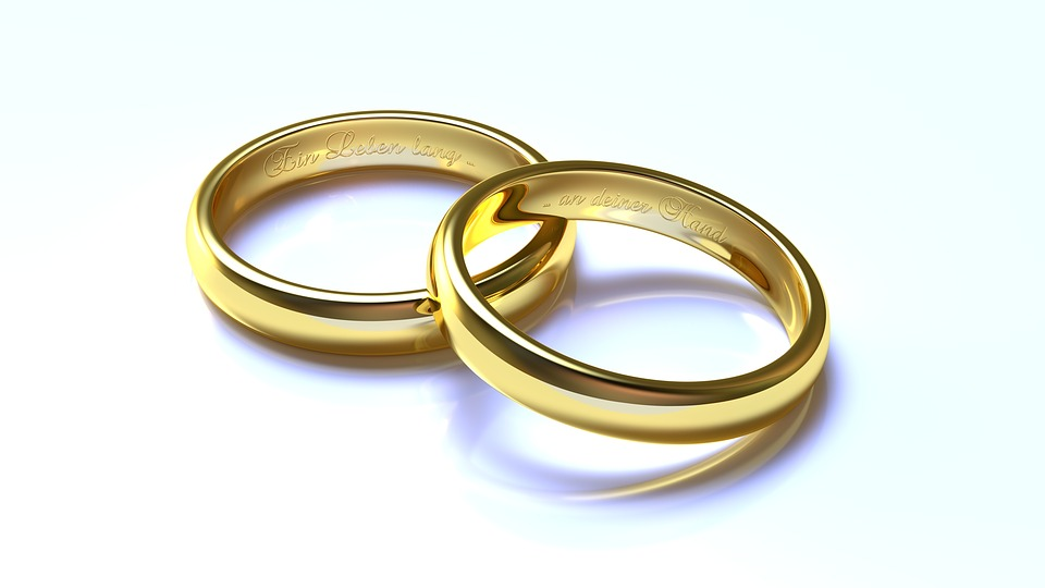 wedding rings gold 3d blender - Wedding Rings Gold