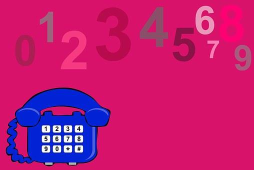 Telephone, Phone, Pink, Numbers
