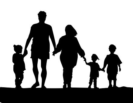 Keluarga Siluet Gambar Unduh Gambar Gambar Gratis Pixabay