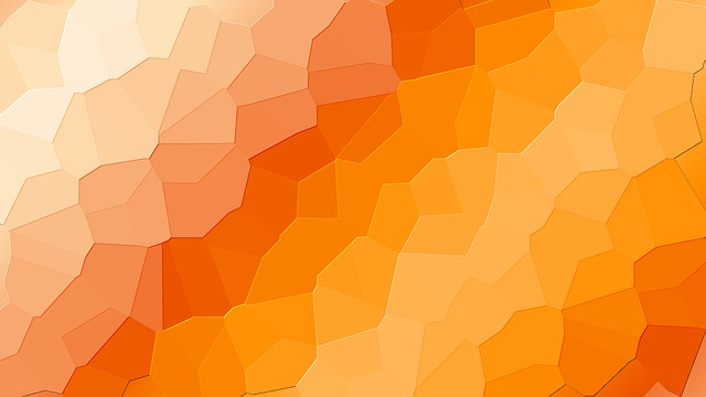 Free Illustration Orange 3d Background Design Free