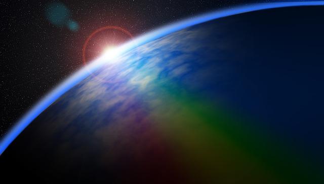 Illustration gratuite arc en ciel espace toiles - Image arc en ciel gratuite ...