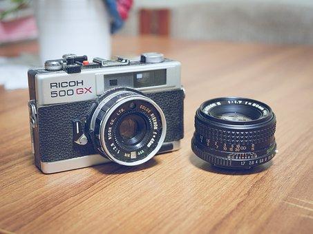 Camera, Slr, Dslr, Lens, Vintage, Photo