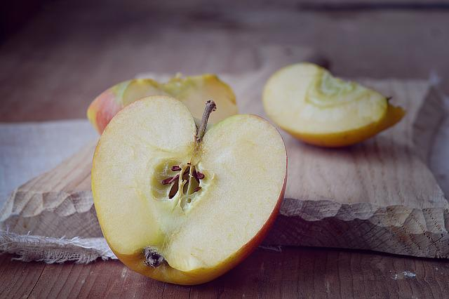 Free Photo Apple Bio Apple Cut Cut In Half Free