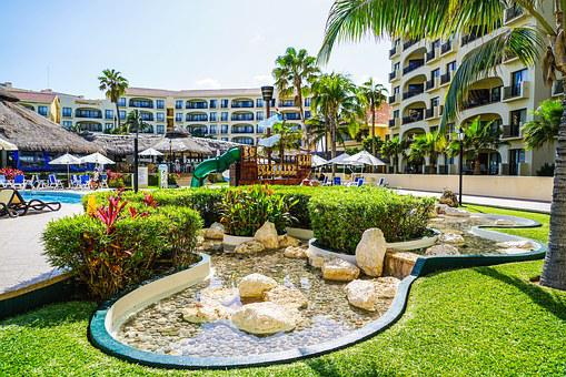 Cancun, Mexique, Tropicaux, Hôtel, Étang