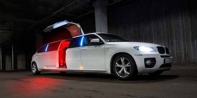 Limousine Limo White Luxury Car Transporta