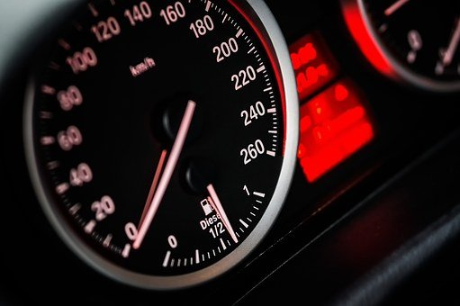 Speedometer, Dashboard, Car, Speed