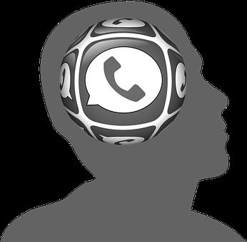 Head, Circle, Phone, Telephone Handset