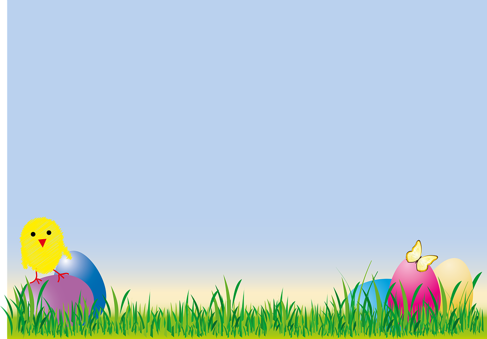 Easter Chicks Egg Grass Colorful Spring