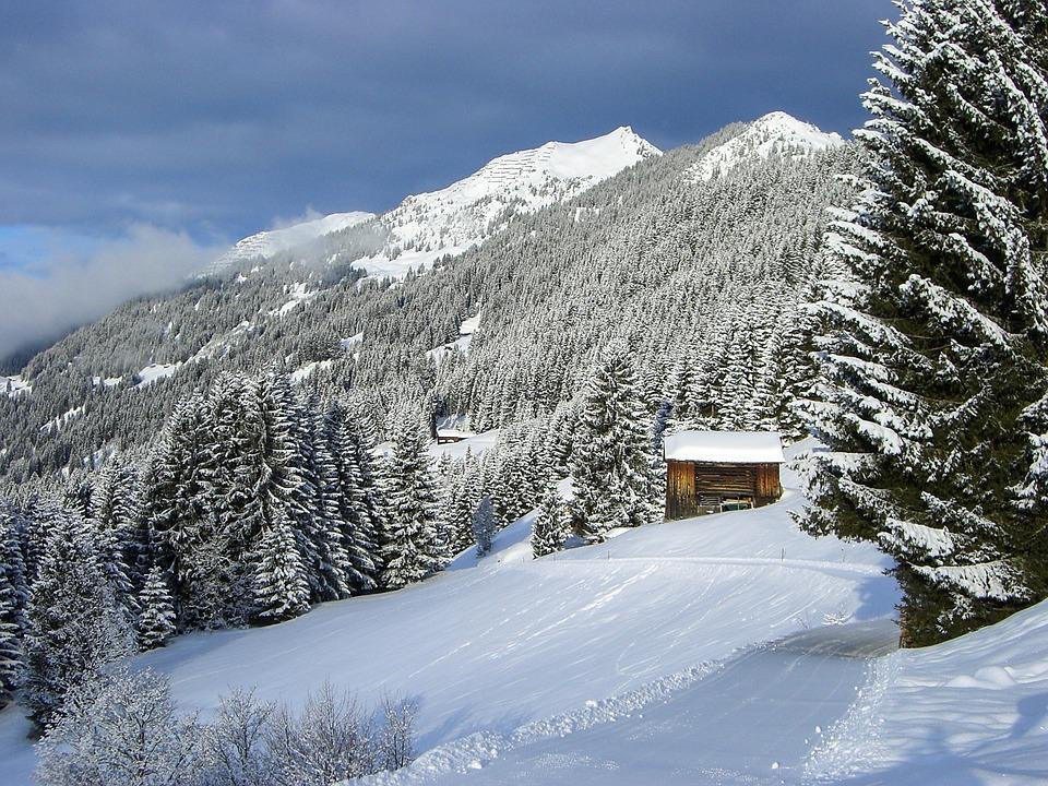 winter schneelandschaft berge kostenloses foto auf pixabay. Black Bedroom Furniture Sets. Home Design Ideas