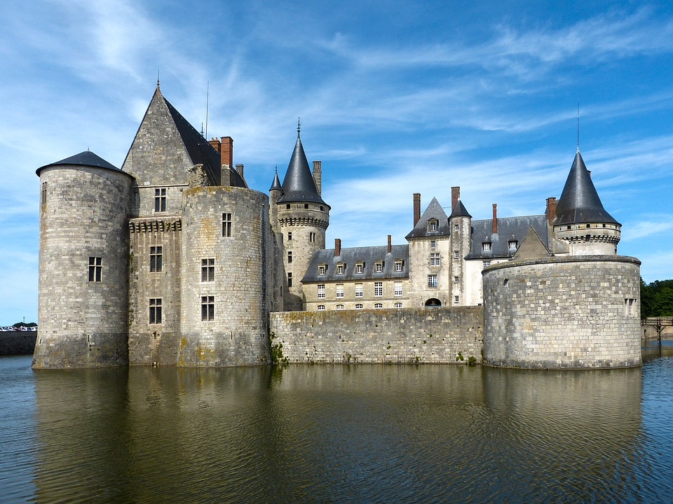 Schloss, Sully, Loire, Bauwerk, Historisch, Gebäude