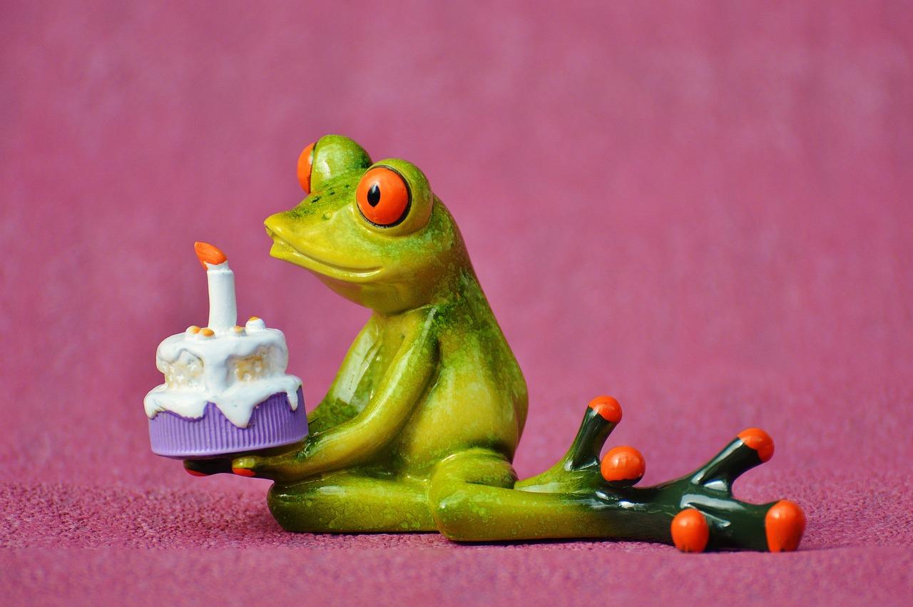 Открытки юбилеем, открытка с лягушкой поздравляю