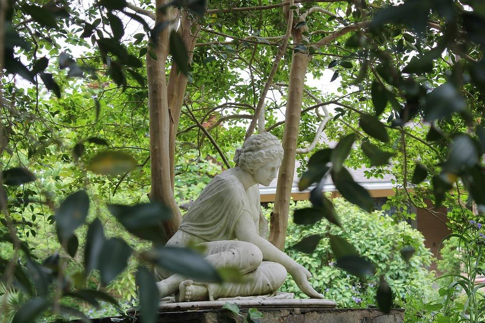 Statue Greek Garden Nature Outdoor Park Sculpture