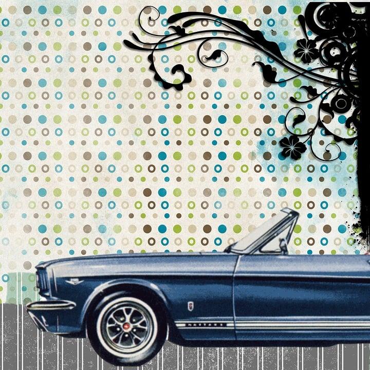 Free illustration: Retro, Car, Background, Scrapbook - Free Image ...