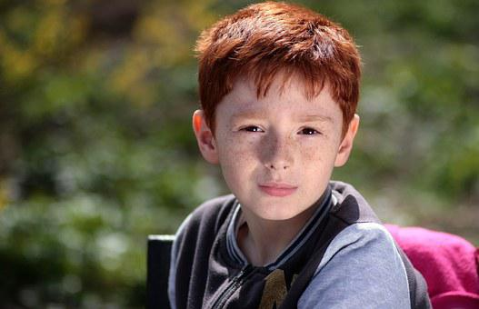 Boy, Red Hair, Freckles, Portrait