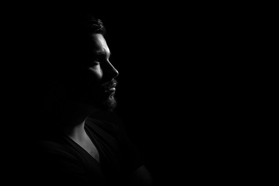 Man, Portrait, Gloomy, Darkness, Dark, Profile, Male, ERECTILE DYSFUNCTION SYMPTOMS