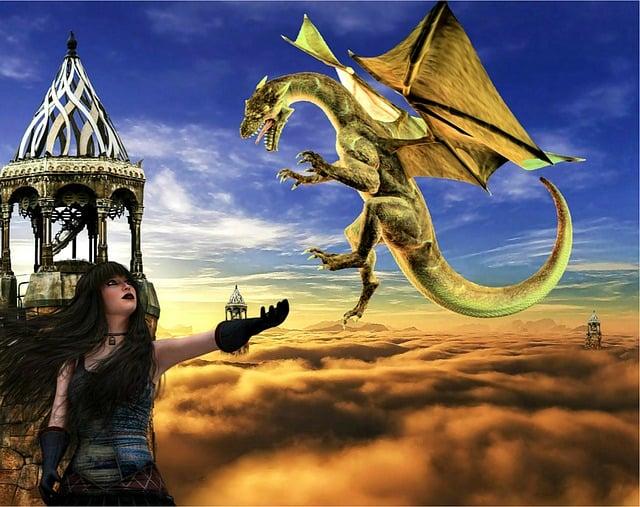 Free illustration fantasy dragon woman creature free - Images de dragons ...