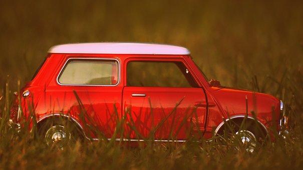 ミニ, 車, 古い車, おもちゃ, モデル, 車両, クラシック, 年