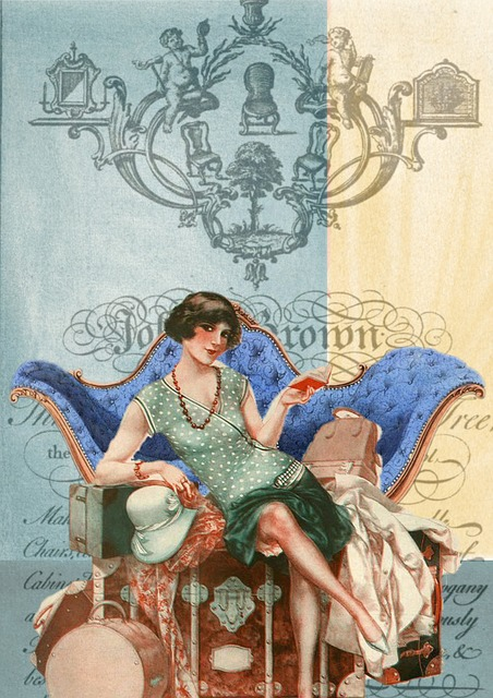 Free Illustration Vintage Collage Art Flapper Free