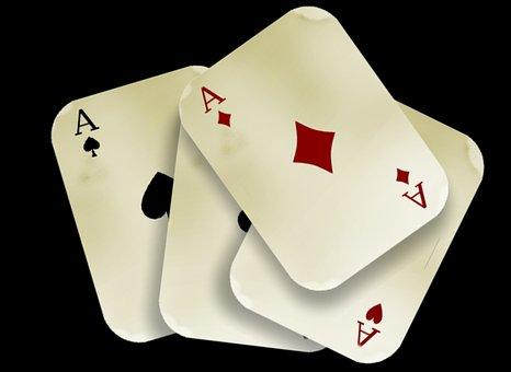Cards, Play, Aces, Four, Diamonds, Heart