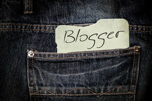 Blogger paper in jeans pocket as part of online awareness creation 8: blogging