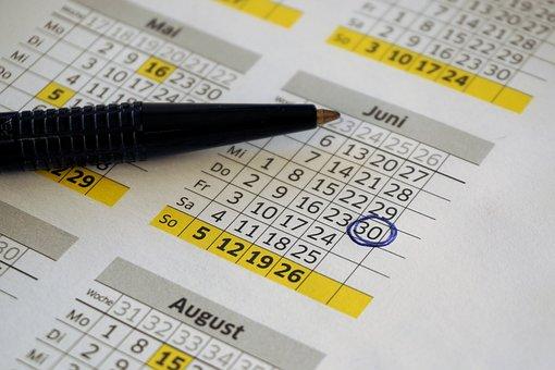 Calendario Año Calendario Oficina Fechas P