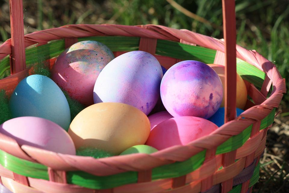 Easter eggs multicoloured basket free photo on pixabay easter eggs multicoloured basket grass garden negle Image collections