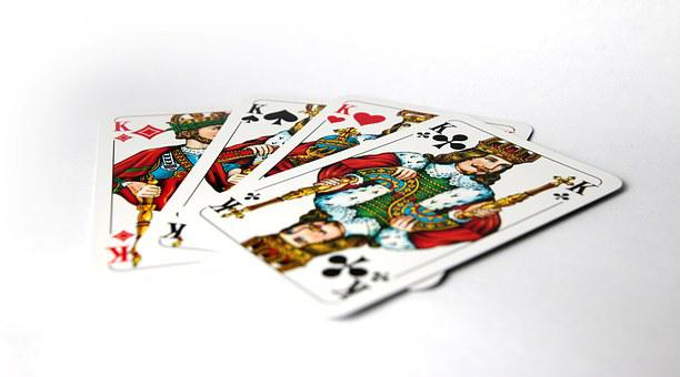 King, Poker, Four, Four Kings, Cards