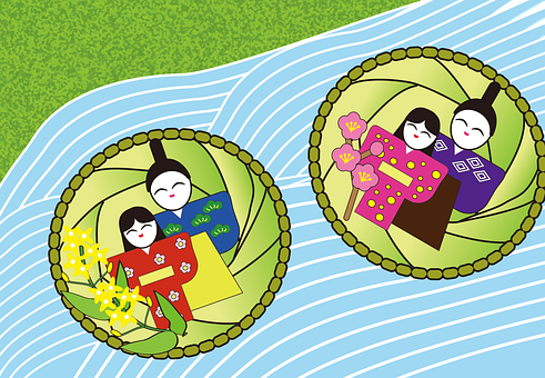流し雛, お雛様, ひな祭り, 日本, 伝統, 行事, 女の子