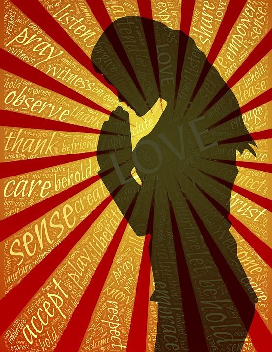 Gebed, Liefde, Vrouw, Dankbaarheid, Bedankt, Eerbied