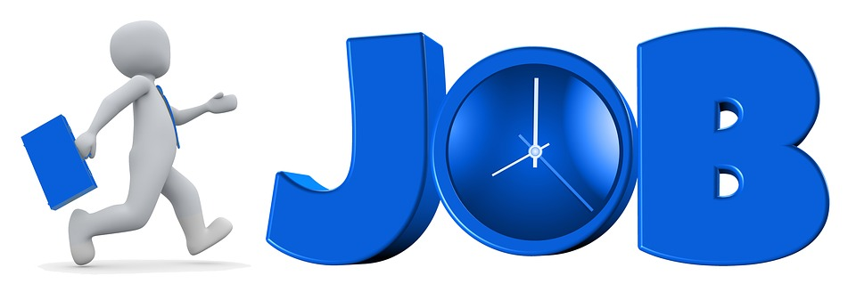 Job Work Businessman Time Clock Starting Work