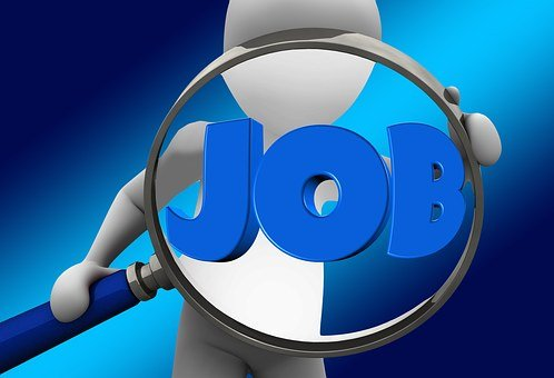 仕事を探してください, 仕事, シルエット, 男, 従業員, 広告, 雇用機関