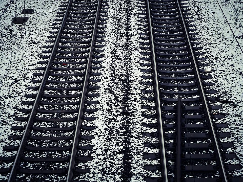 Gleise, Schnee, Bahn, Winter, Eisenbahn