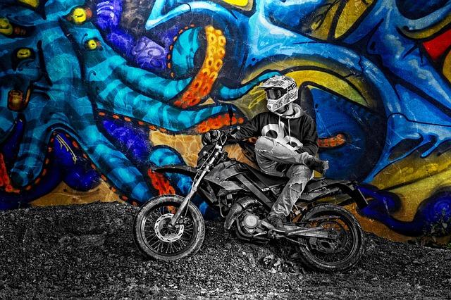 Free Photo Graffiti Motorcycle Motor Image On
