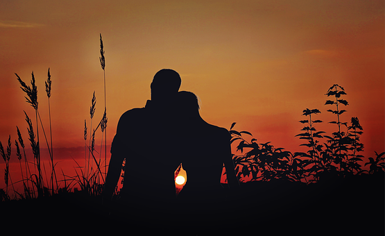 Lovers, Pair, Love, Sunset, Romance