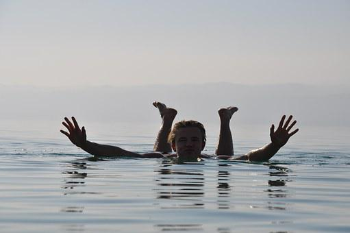 Dead Sea, Jordan, Swim, Flows, Summer