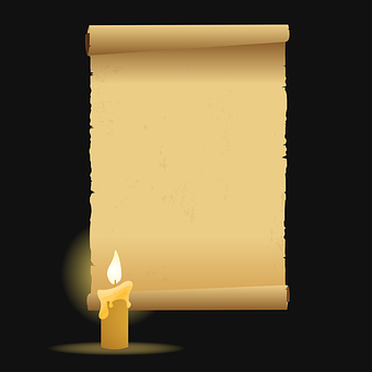 Candle Parchment Paper Vector Old Rol
