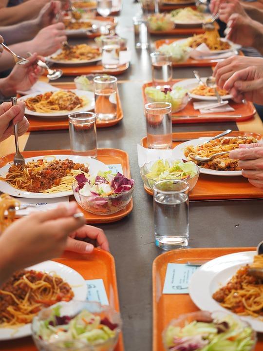 Spaghetti, Manger, Cantine, Tribunal, Nutrition