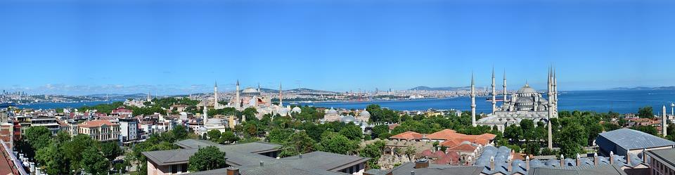 Istanbul, Panoramic, View, Hagia Sophia, Sultanahmet