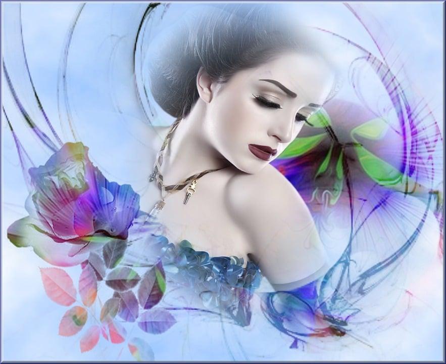 Ilustración Gratis: Mujer, Fondos De Pantalla, Belleza