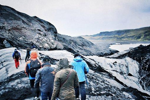Glacier, Islande, La Glace