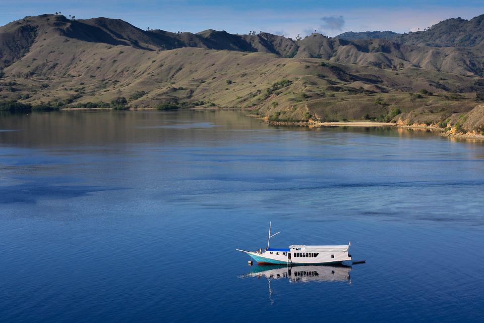 Landscape, Islands, Sea, Nature, Komodo, Indonesia