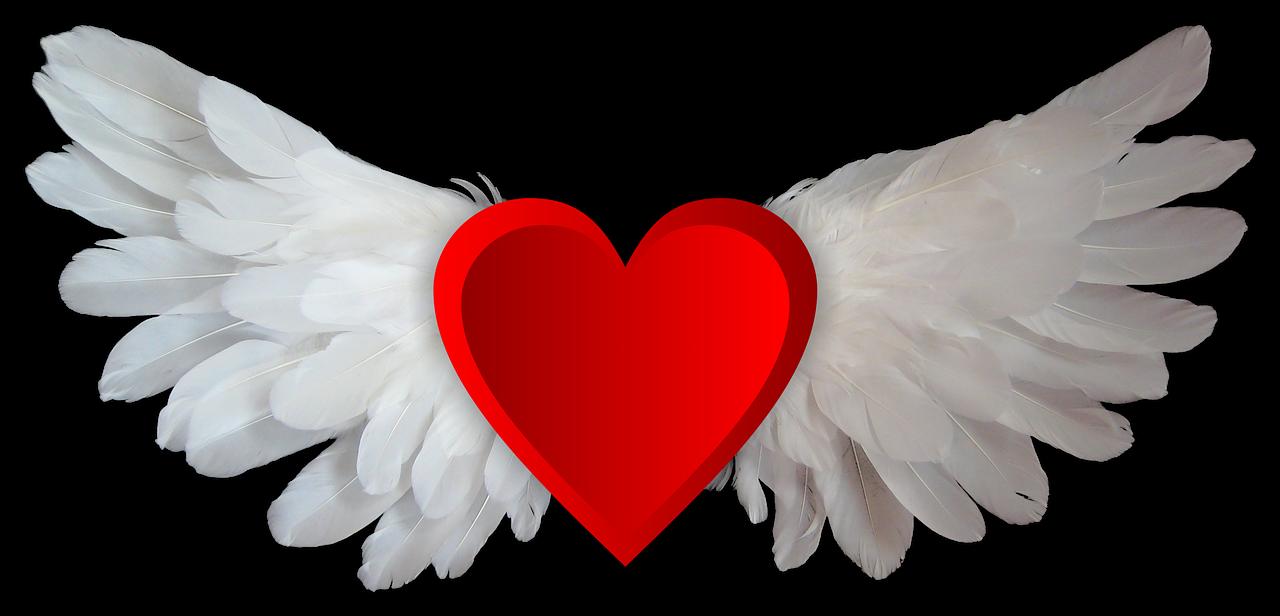 Картинки сердец на крыльях