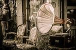 pchli targ, gramofon, muzyka