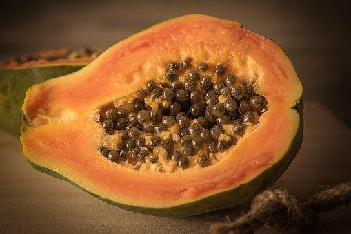 Papaya, Cut In Half, Cut, Delicious, Eat