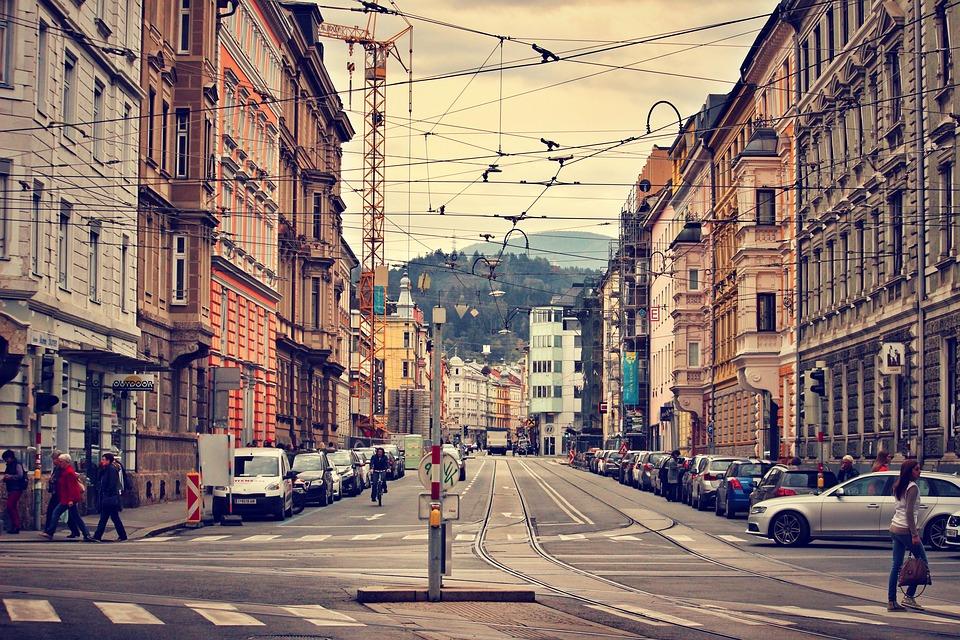 Innsbruck, Austria, City, Architektura, Ulicy Miasta